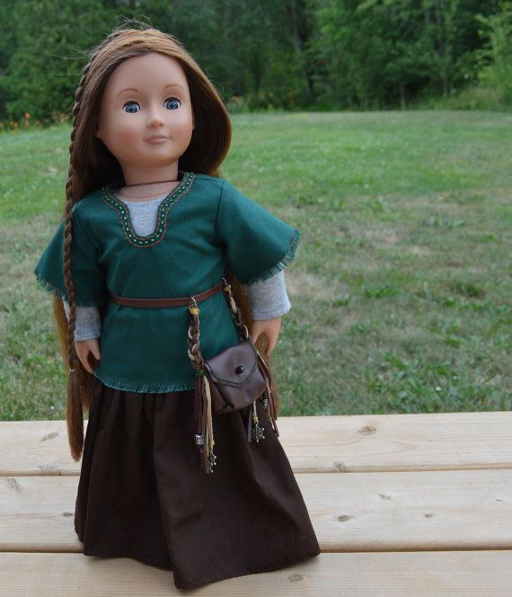 18 inch American Girl Doll Medieval Outfit by LsDollCloset on Etsy