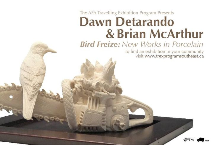 Travelling Exhibition Program (TREX): Bird Frieze New Works in Porcelain is on display at Rolling Hills School, in Rolling Hills Alberta - October 8- November 5, 2014 and will be at the Taber Public Library November 12-December 10, 2014.