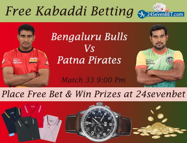 Math 33th #Bengaluru Bulls Vs #Patna Pirates. That was an Interesting Match Because Both Team are Lost 2 Consecutive matches. Predict Who Will #Win & Place Free Bet and Win #Prizes Online at 24sevenbet