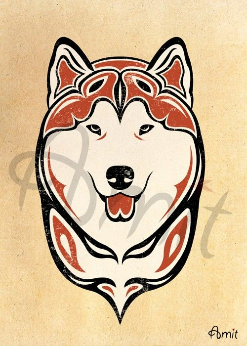 NW malamute head by SiberianArt on Etsy. Love this and all their designs.