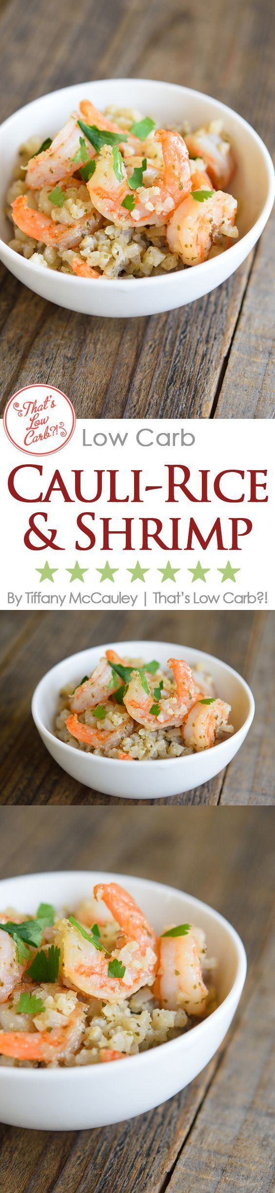 Low Carb Recipes | Low Carb Shrimp Recipes | Low Carb Cauliflower Rice Recipes | Low Carb Cooking | Recipes ~ https://www.thatslowcarb.com