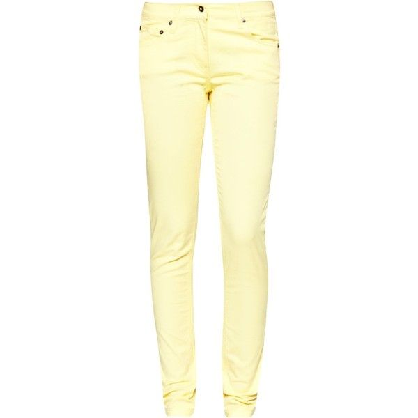 Great Plains Colour me skinny jeans ($65) ❤ liked on Polyvore featuring jeans, clearance, yellow, yellow jeans, great plains, mid-rise jeans, pastel jeans and denim skinny jeans