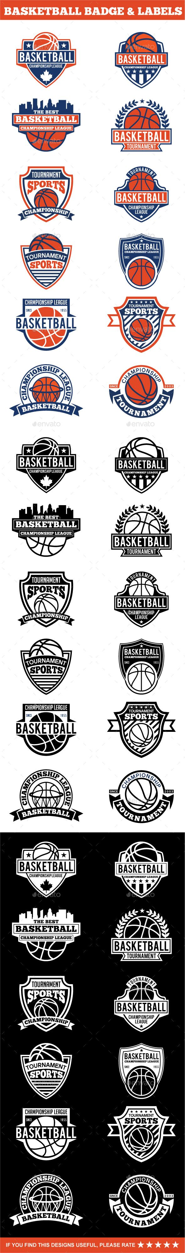 Basketball Badges & Stickers Template Vector EPS, AI. Download here: http://graphicriver.net/item/basketball-badges-stickers-vol1/15335099?ref=ksioks
