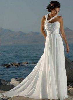 Elva-Robe de Mariée en Mousseline polyester avec Fleurs