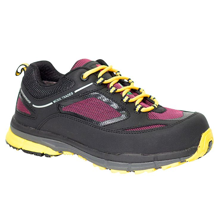 Frankie Metal Free Waterproof Athletic Safety Hiker For Women $134.99 Lightweight Metal Free Waterproof Athletic Hiker Synthetic with mesh inserts upper Waterproof Composite toe Composite plate Tri-tex® Waterproof breathable lining Compression molded MD midsole Removable PU insole Slip and oil resistant rubber outsole CSA approved Grade 1 ESR/EH Meets or exceeds ASTM F 2413-05 requirements