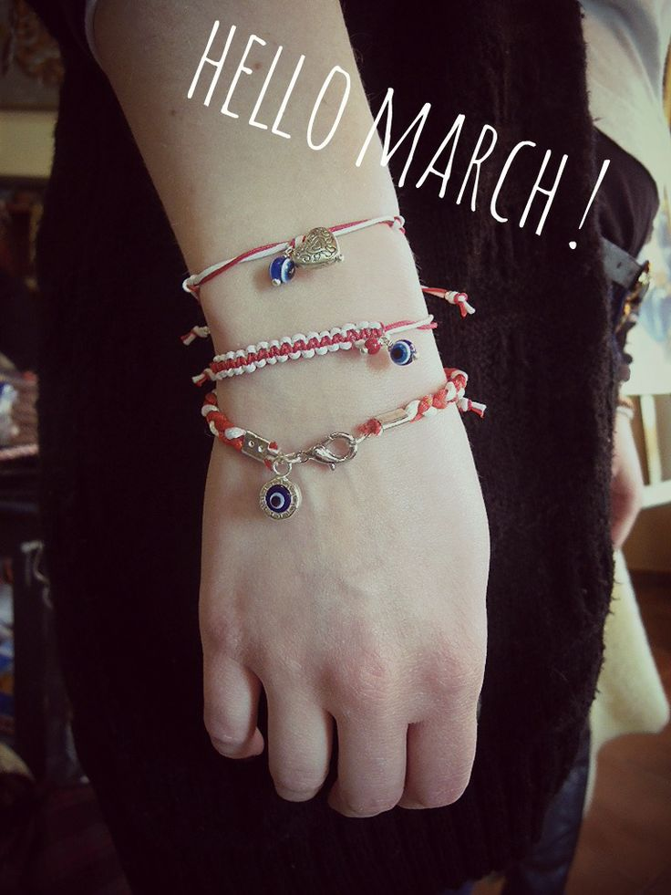 #March #spring #bracelet #handmade #evil_eye