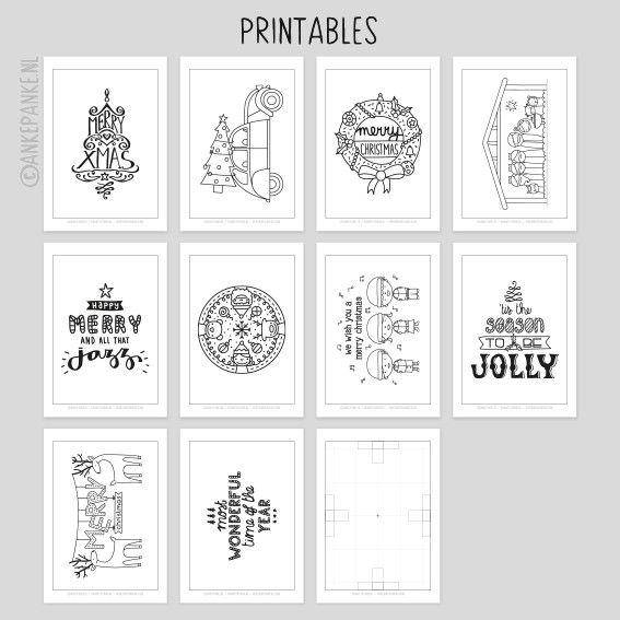 Raamtekening.nl | Tekenplaat printable set - Kerstmis
