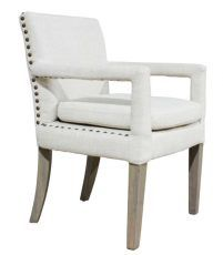 Block & Chisel cream upholstered dining chair