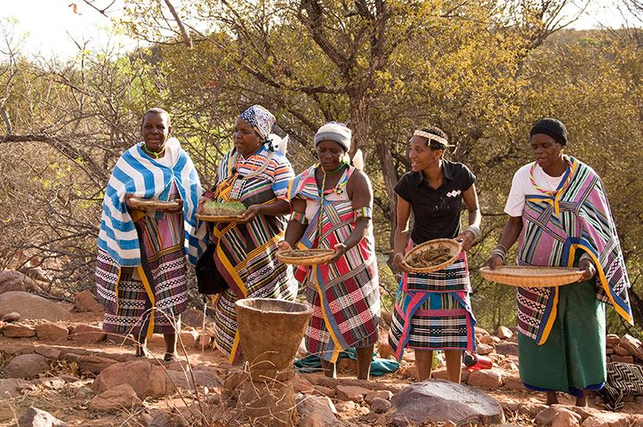 Makhadzi (women leaders), in Venda, South Africa, showing the seeds they use for planting, storing and rituals. Seed saving – selecting and ...