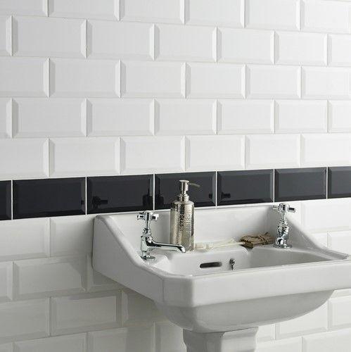 White Metro Tiles. Bathroom Wall ... Part 78