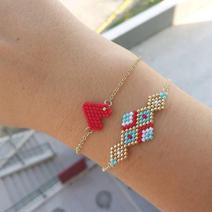 Tatlış bileklik kombinimiz ❤#twinssart #miyukibeads #miyukiboncuk kalp #heart #bileklik #bracelet #handmade #elemegi #bestoftheday #bestgift #picoftheday #tasarım #kişiyeözel #ankara #istanbul #instagram #instablogger