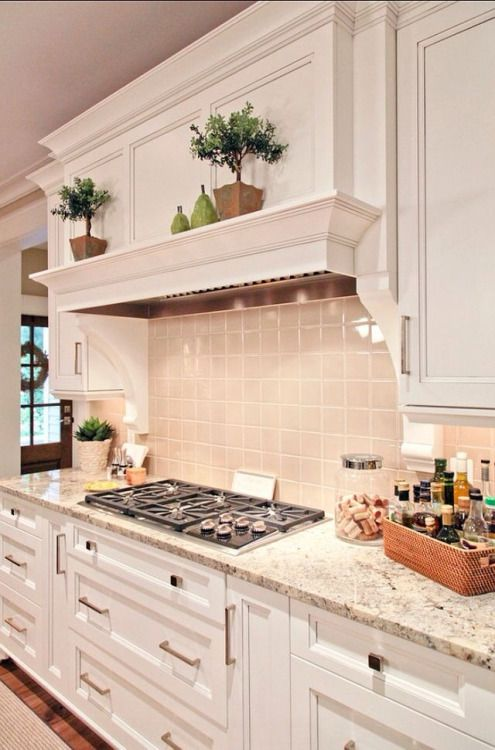I love this stove and vent hood with shelf surround