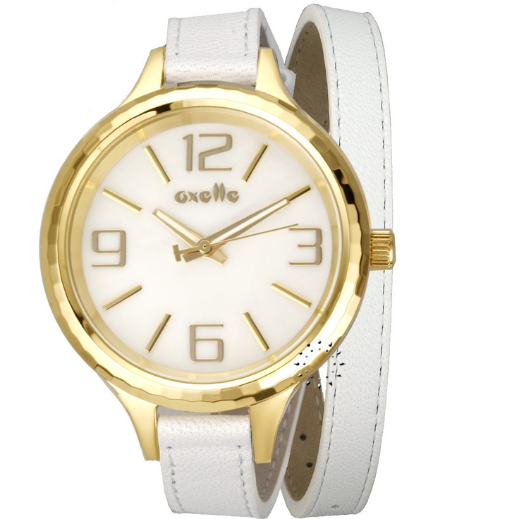 OXETTE Ladies White Leather Strap Μοντέλο: 11x65-00023 Η τιμή μας: 105€ http://www.oroloi.gr/product_info.php?products_id=26974