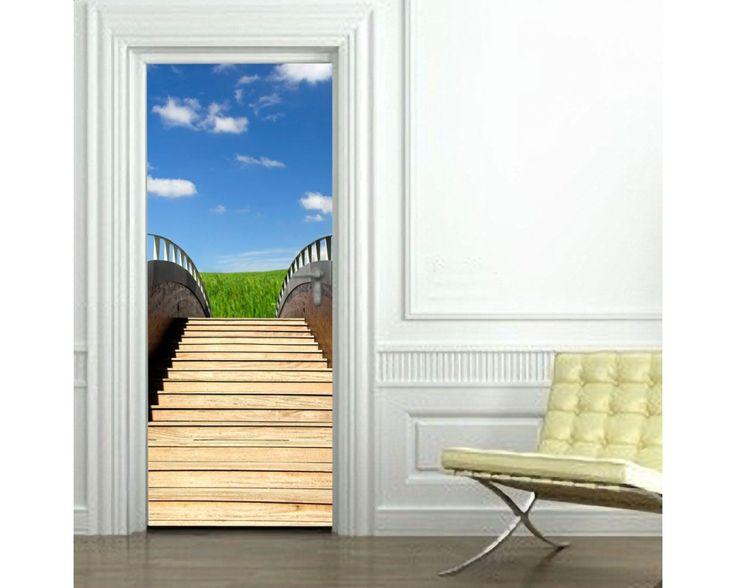 Σκαλιά στον ουρανό, αυτοκόλλητο πόρτας , δείτε το!