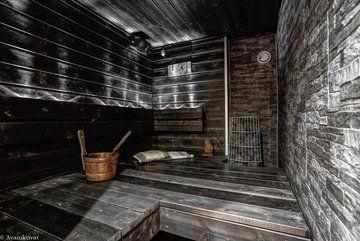Tumma sauna makuulauteella