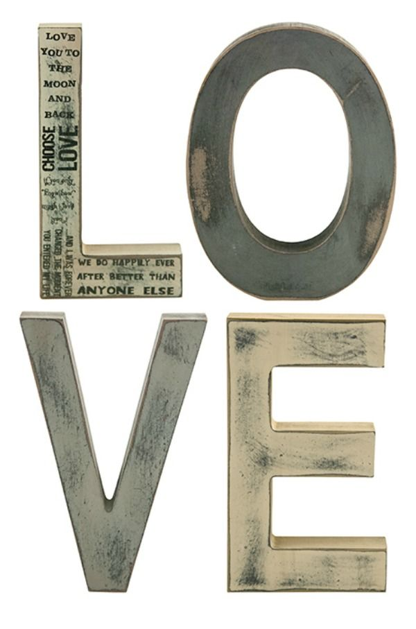Wooden Block Letters, Nauvoo Decor LOVE