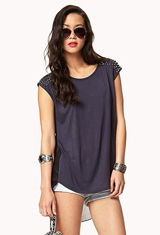 Spiked High-Low Top | FOREVER21 - 2048940027