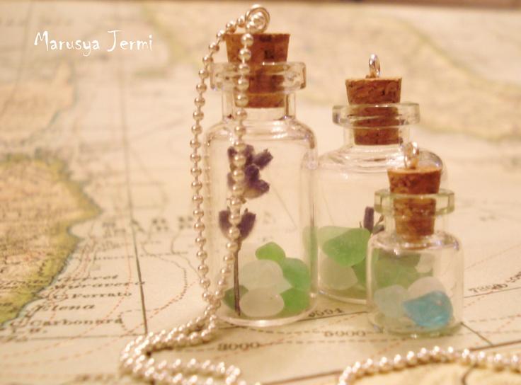 Bottles with Lavender & Glasses