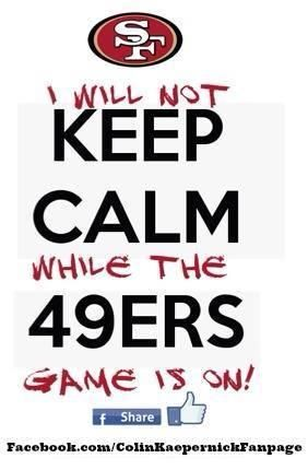 San Francisco 49ers-we need this poster for our house so everyone is prewarned of tony's excitement