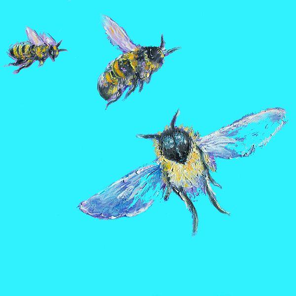 Bumble bees  #kitchenart #kitchenwalldecor #countryhomedecor #beepainting #nurserywallart #kidsroomdecor