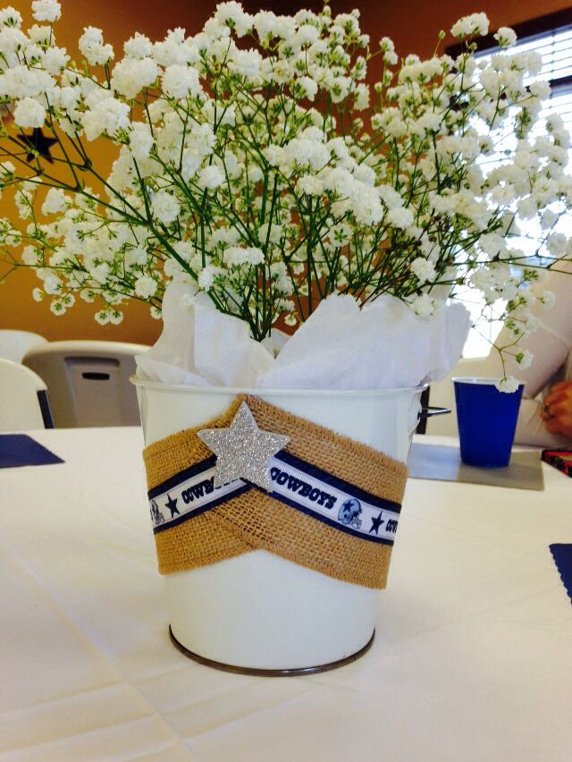 Dallas Cowboys Baby Shower Centerpiece Crafts