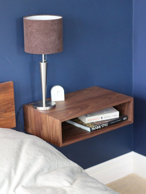 Best Floating Nightstand Handmade In Solid Walnut Bedside Lockers Side Tables Bedroom Floating 400 x 300