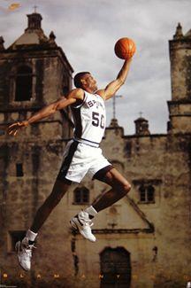David Robinson Slam Antonio San Antonio Spurs Poster - Nike 1993