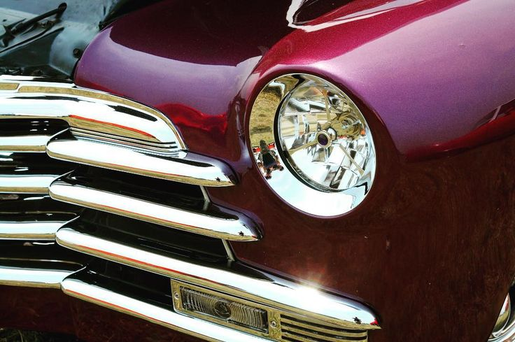 Purple and chrome! #Classic #Style #Custom #Chrome #Grille #ClassicCars #Cars #CarShow