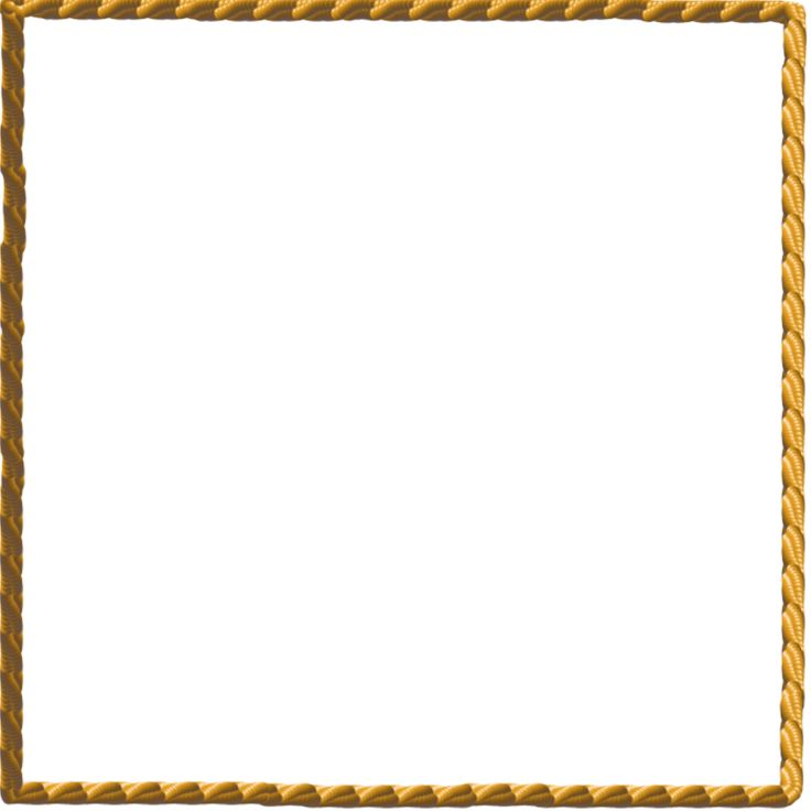 White border png rope frame tattoo de Rope photo frame