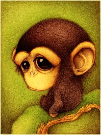 monkey by faboart on deviantart