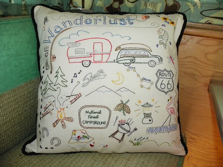I know they don't need another project but how cute.. to start with a little camper and have everyone autograph their pillowcase for a keepsake