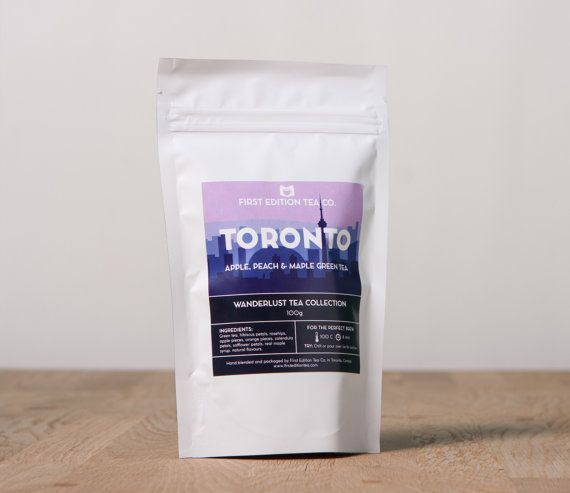 Toronto Loose Leaf Tea Blend Apple Peach and by FirstEditionTeaCo
