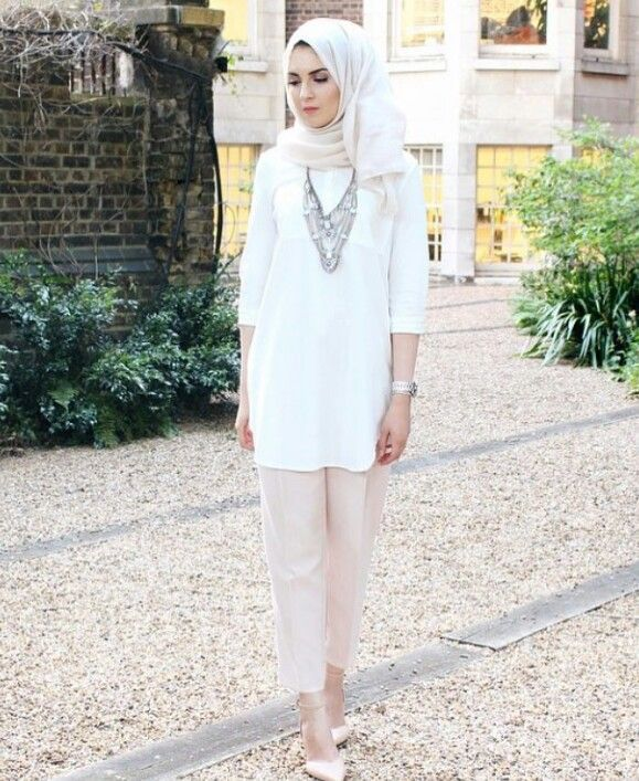 Modest White Shirt Outfit