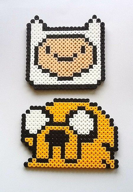 Adventure Time hama perler beads- When I have TONS of experience with pony beads, I  shall do this