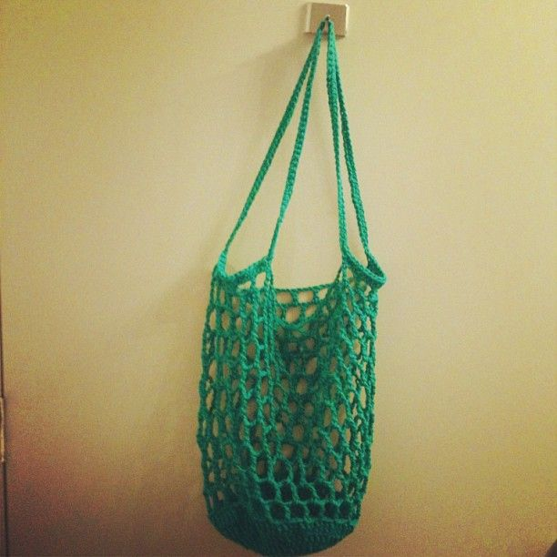 Easy Crochet Mesh Bag Pattern : 1000+ images about ^-^ Crochet mesh bag on Pinterest