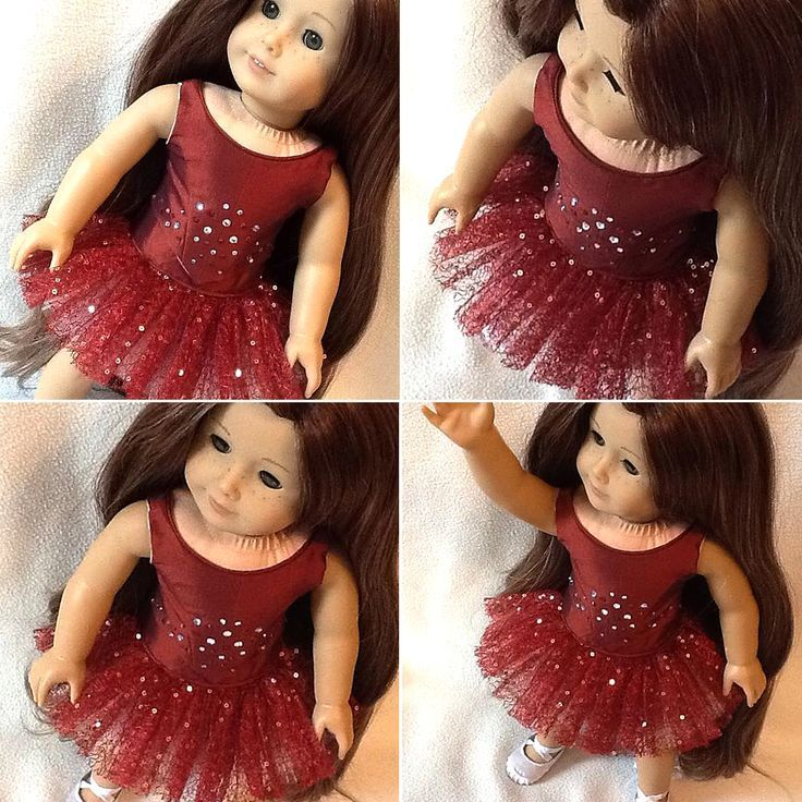 "Kathi M. made this stunning ballet ensemble for her American Girl doll using the Lee & Pearl Ballet Performance Pattern Bundle for 18"" Dolls, available in our Etsy store at https://www.etsy.com/listing/271748202/ballet-performance-bundle-for-18-dolls. Kathi made the Corps de Ballet Bodice out of deep red taffeta, adorned with hand-applied Swarovski crystals, and the Prima Ballerina Classical Tutu out of sparkly teardrop tulle. Brava, Kathi!"