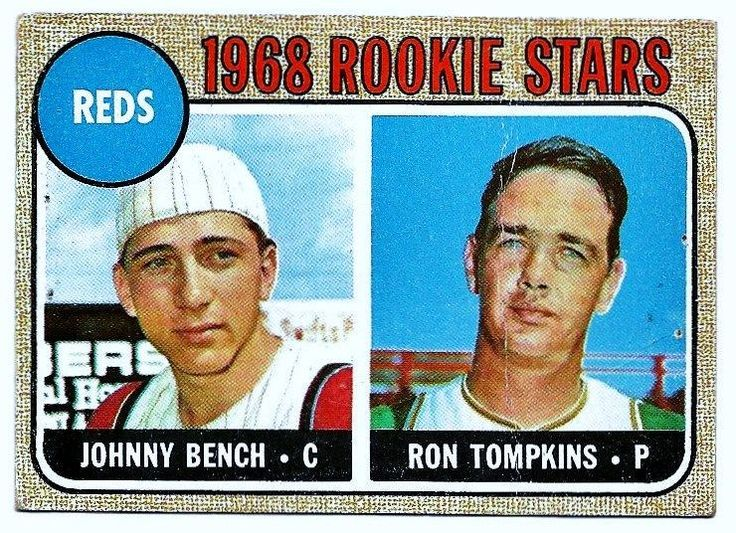 1968 Topps Johnny Bench 247 Baseball Card Baseball Cards Cards And Benches