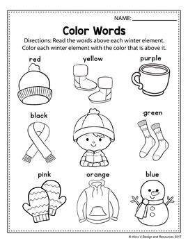 Free Sample Of Winter Activities For Kindergarten Literacy No Prep Kindergarten Math Worksheets Preschool Worksheets Kindergarten Worksheets Winter break worksheets for kindergarten