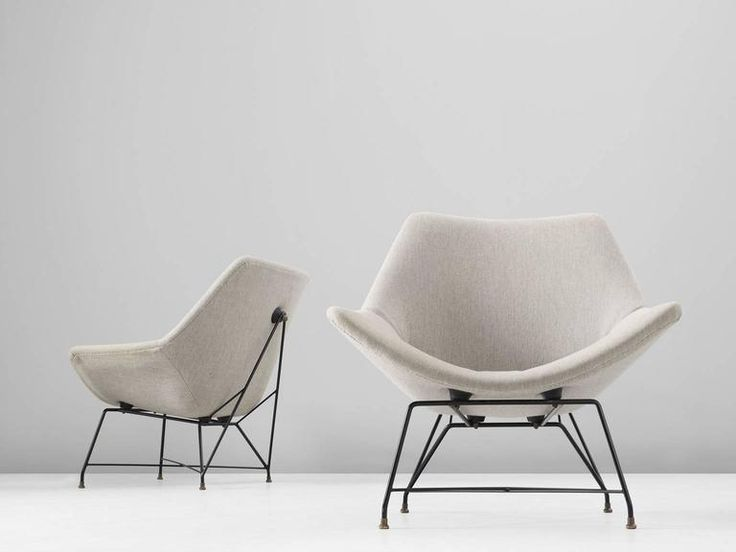 Augusto Bozzi Pair of Easy Chairs for Saporiti 2