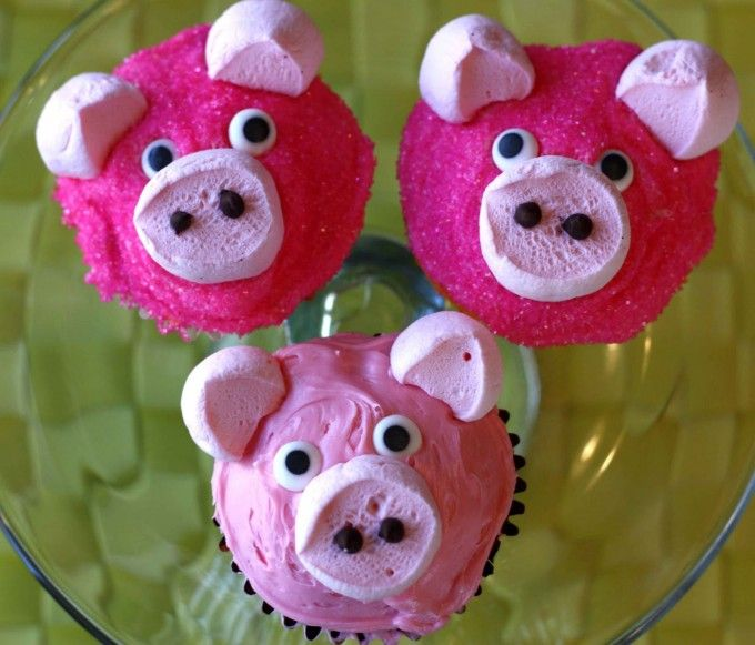 Pig Cupcakes...these are the BEST Cupcake Ideas!