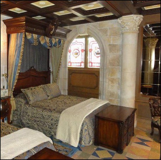 High Quality A Medieval Design Bedroom. I See Dark Wood Furnishings U0026u0027 Wooden Beams On  Celling. Walls Are Solid Stone White U0026u0027 Few Decorative Molding On The  Porticou0026u0027 ...