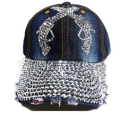 baseball hats bling womens with caps we supply washed rhinestone denim crystal jean cowgirl