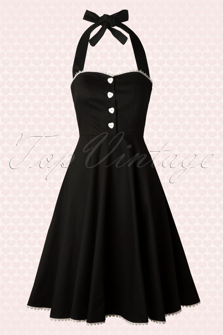 Collectif Clothing - 50s Gretel Swing Dress in Black