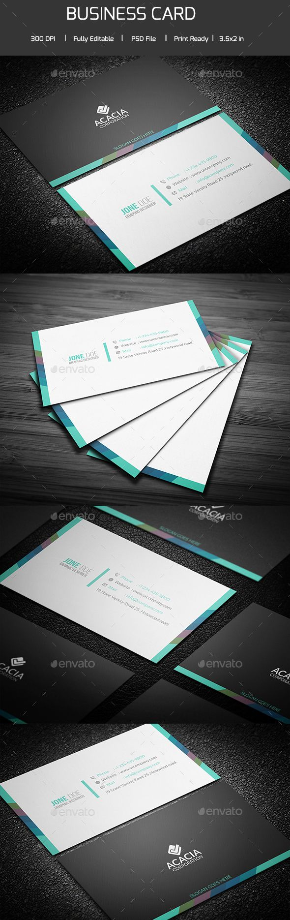 3023 best nice business cards on pinterest images on pinterest simple and clean business card v 04 reheart Image collections