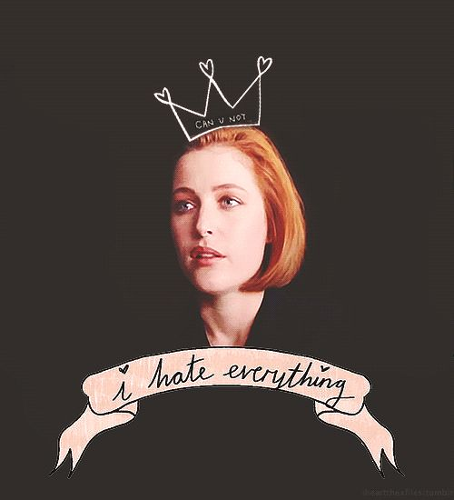 Scully aka Our Lady of Skepticism.  (Be sure to click though to see this gif in all of it's amazingness.)