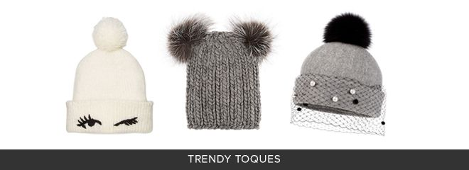 Keep Winter Fresh & Fun with these trendy toques! Shop Kate Spade, Barneys, Nordstrom & Hudson's Bay to get this Luxe trend! Don't forget you can find the best Coupons, Promo Codes & Cash Back for all your fave luxury stores!