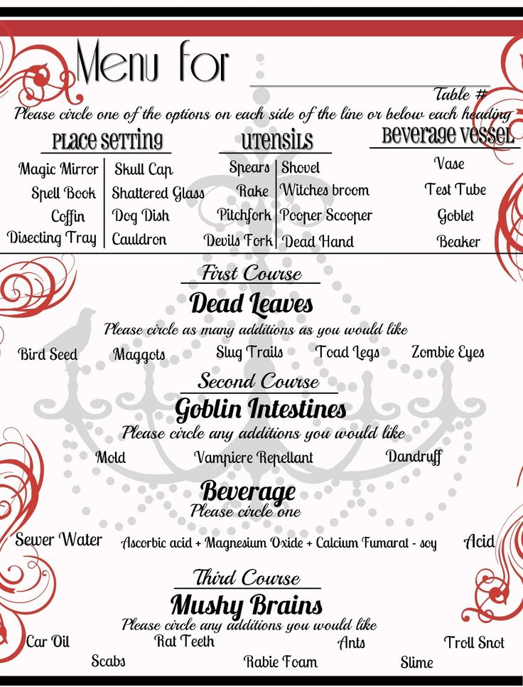 10 best PARTY - Dinner images on Pinterest Dinner menu, Mystery - dinner party menu template