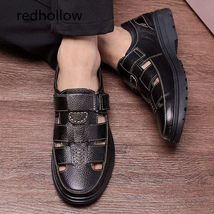 Men Sandals Men's Slippers Real Leather Shoes Summer Beach Sandals Casual Soft Men Shoes Flip-Flops Zapatos Breathable