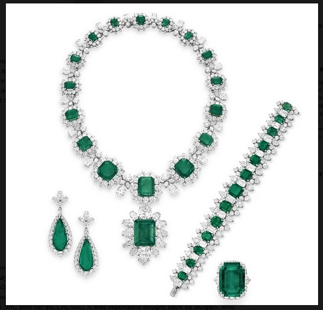 """Here's a good jewellery term """"Parure"""" from a French word meaning to adorn. It refers to matching sets of at least 3 items of jeweller. It became popular when Napoleon gave his wife Josephine many beautiful sets.  It was passed down & adapted to match the latest fashion – the perfect undertaking for Maker Mends! Once only available to the wealthy but the advent of costume jewellery made it more available.This is a parure that Richard Burton gave to Elizabeth Taylor, now broken up and…"""