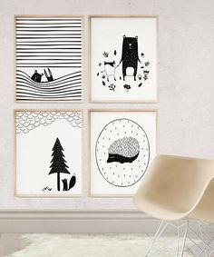 Peekaboo Nursery Wall Art enthält 5 digitale Druckdateien – Diese niedlichen Kreaturen ergänzen skandinavische Kinderzimmer Dekor | Einzigartiges Babygeschenk